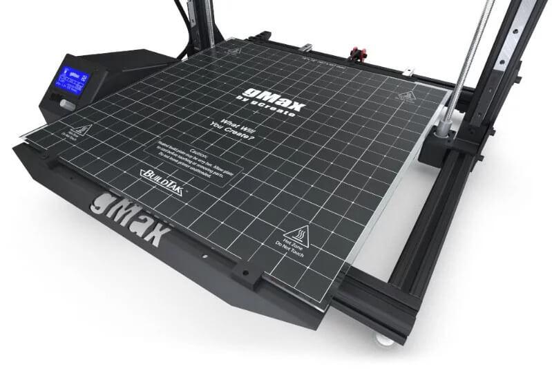 gCreate gMax 2 heated bed