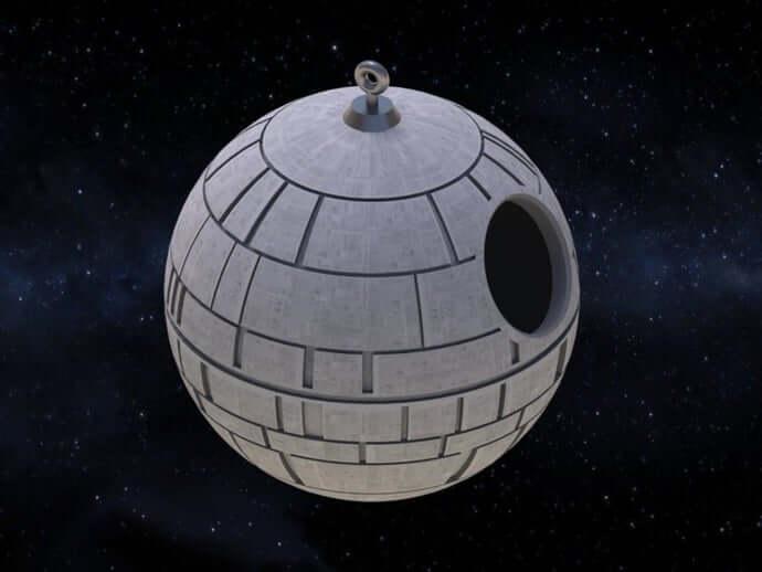 Death Star Birdhouse