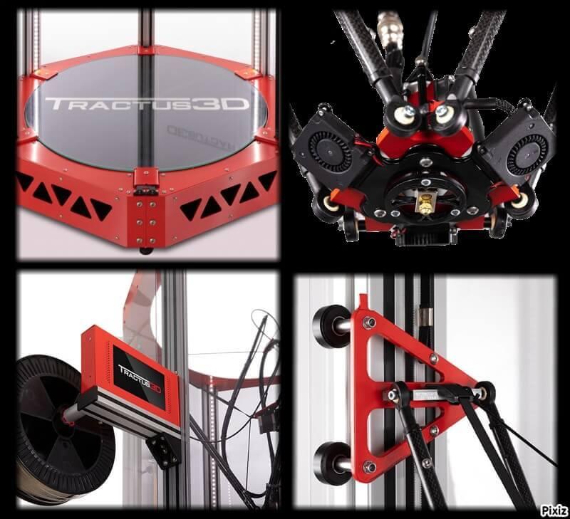 Tractus 3D T2000 3D printer specs
