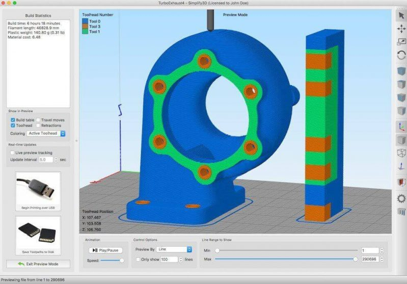 Tractus3D software