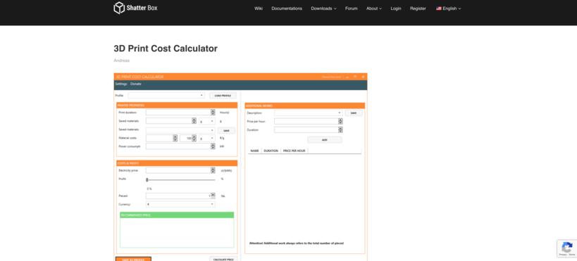 shatterbox cost calculator