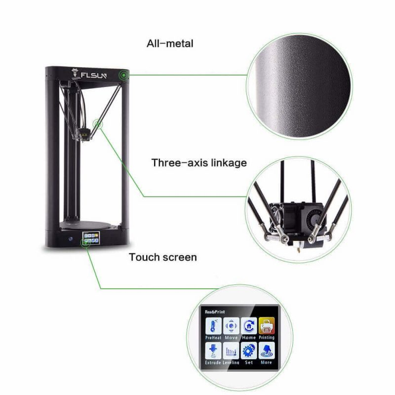 FLSUN QQ-S Pro 3D printer features