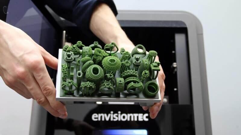 EnvisionTEC D4K jewelry Pro print quality