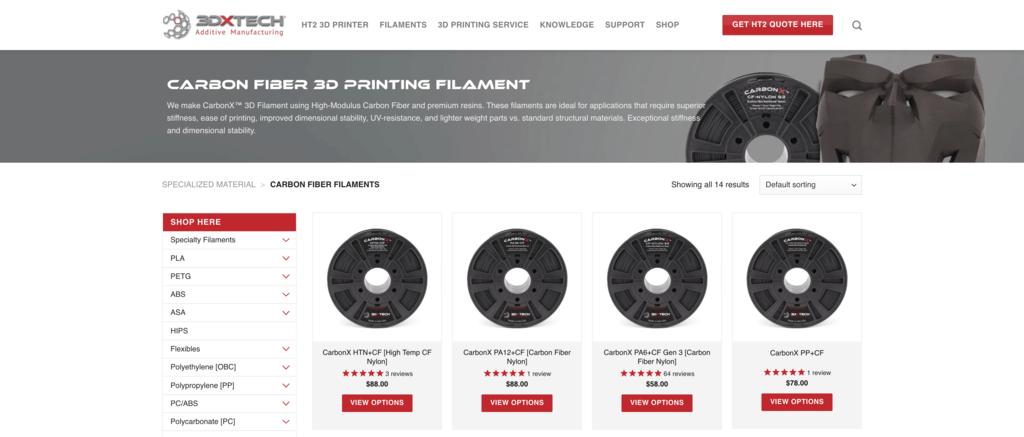 carbon fiber 3Dxtech