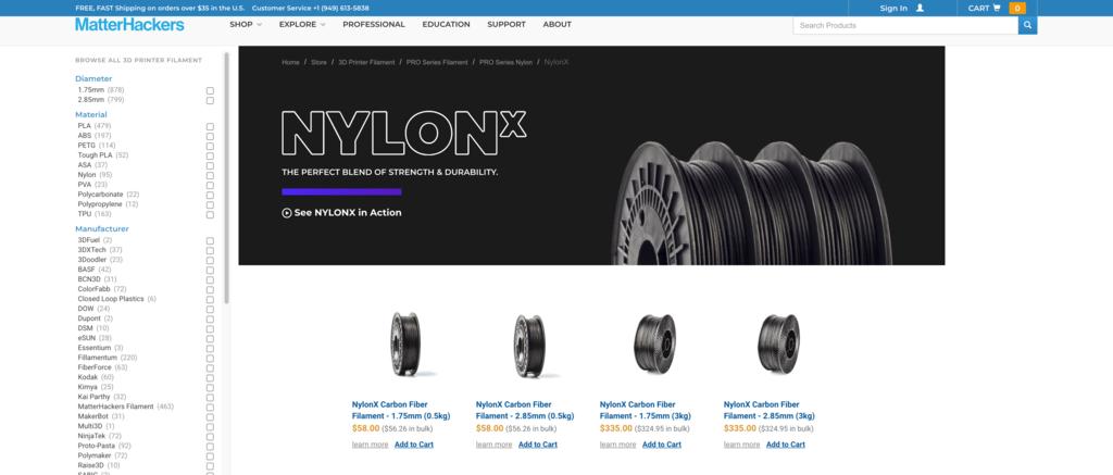 carbon fiber matterhackers