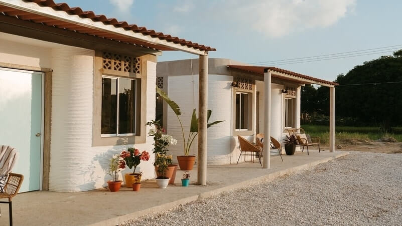 Tiny 3D Printed Houses in Mexico