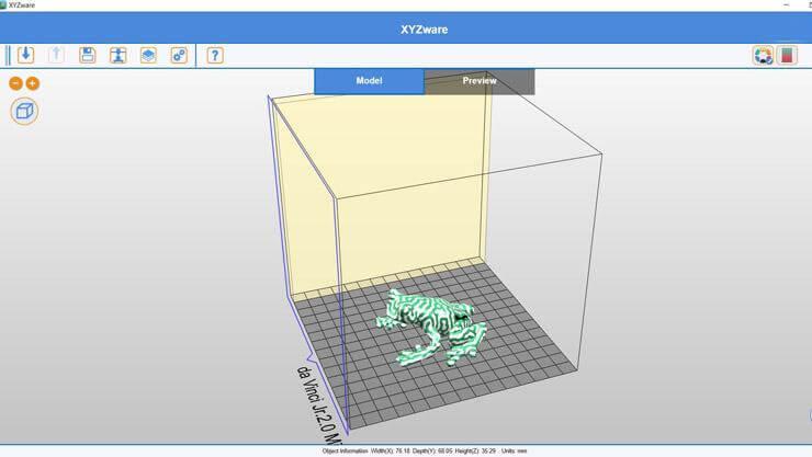 XYZPrinting Da Vinci Jr 2.0 Mix software