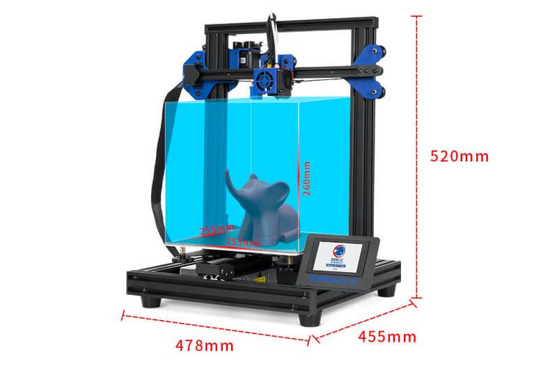 tronxy xy-2 pro 3d printer specs