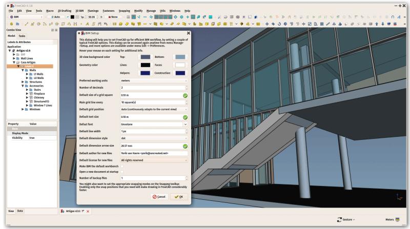 FreeCAD BIM software