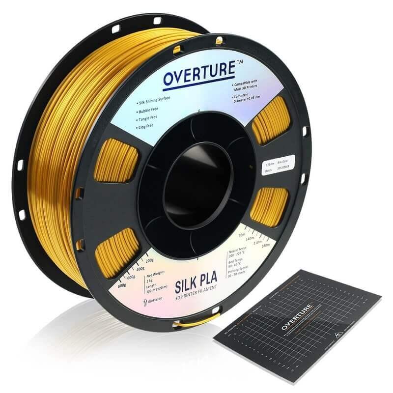 Overture Gold PLA filament