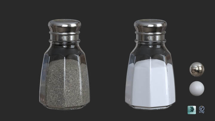 Salt and Pepper Shakers 3D model