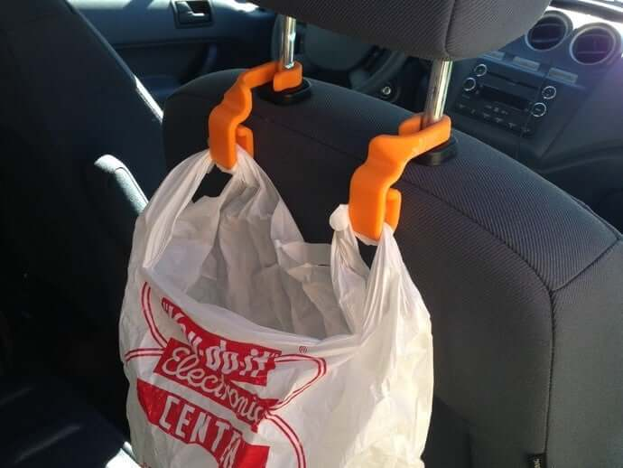 Seatback Trash Bag Hooks 3d model