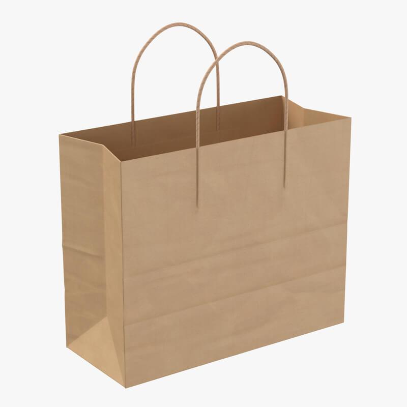 Shopping Bag Handle 3d model